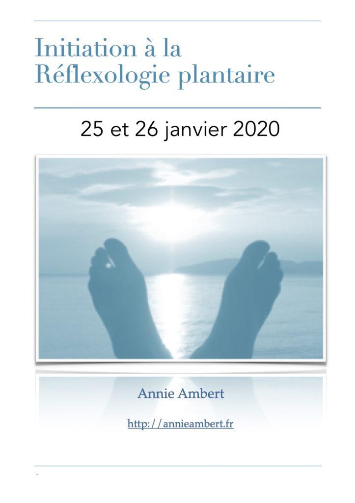 Initiation réflexologie plantaire Annie Ambert