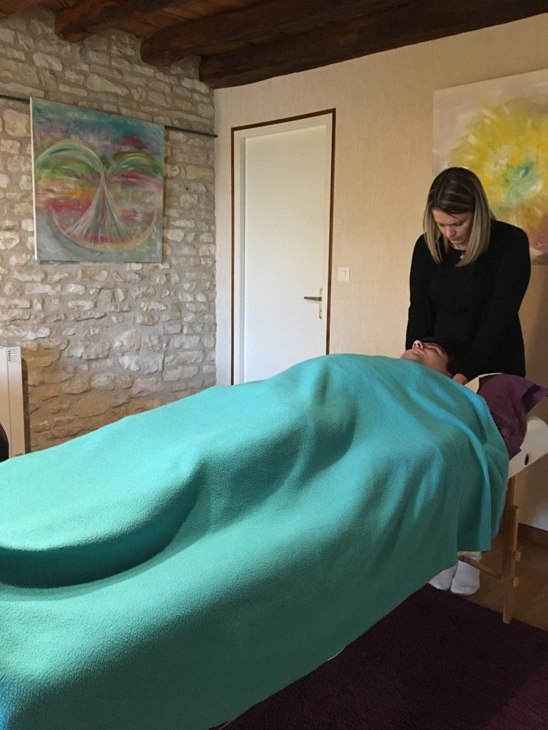 1er soin complet pour Sandrine, pratique parfaite!